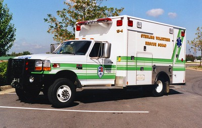 Former '15-4', a 1998 Ford F Super Duty/Medic Master.  Donated to Monroe Tech School in Leesburg, Virginia, in 2007.