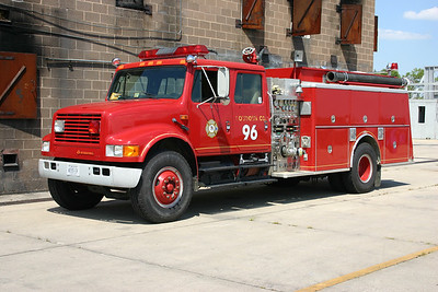 Old Training Center Engine 96 was this 1988 International 4800/1989 KME  1250/1000.  It originally saw service in Neersville as Engine 16 and came to the Training Center in 2005.