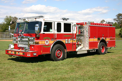 Engine 616 is a 2007 Pierce Dash  1500/750/50.  Became Engine 626 in 2013 when Fire Station 16 closed and the new Station 26 opened in Loudoun Heights.