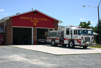 Neersville Fire and Rescue Station 16.  This station closed in 2014 when the volunteer program in Neersville dissolved and a new Fire Station 26 was opened in Loudoun Heights.