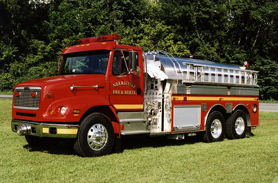 Neersville Tanker 16 is a 2000 Freightliner 112 built by S&S and carries 3000 gallons of water.  This photograph of Tanker 16 was taken several weeks after the tanker had been placed into service.