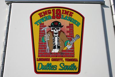 Station 19 - the Dulles South Safety Center.  This emblem is on Engine 619, a 2012 Pierce Arrow XT.