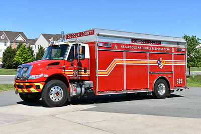 HAZMAT Support 619 was placed into service in April of 2017 at the Dulles South Safety Center in South Riding.  HAZMAT Support 619 is a 2016 International 4400 4x4/Pierce with Pierce job number 29688.  This truck primarily runs with HAZMAT 619 on all emergency calls.