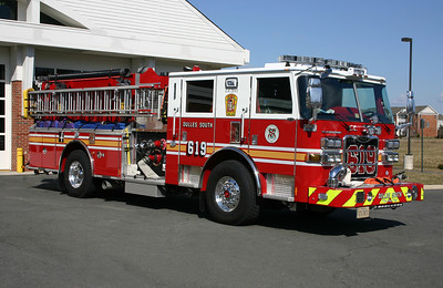 The officer side of Engine 619 as photographed in April of 2013.