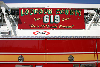 "THe ""Route 50 Truckin Company"" as depicted on the ladder board of Tower 619."