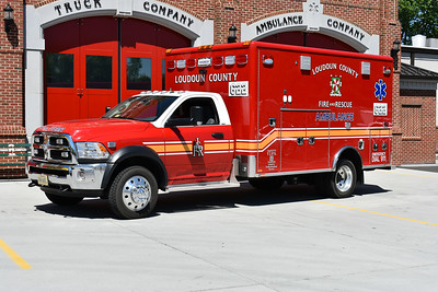 "Although marked ""622"", once delivered this medic unit spent time at a variety of Loudoun County stations being evaluated and gathering input from the different crews.  This 2016 Dodge 5500 4x4/2017 Horton would ultimately end up being assigned to Station 19 in South Riding.  This ambulance had some ""first time"" features for Loudoun County - first Dodge with a gasoline motor (more common in the past were Ford F's with diesel engines), power load stretcher system, bench seat on the driver side instead of the officer side, rotating ALS seat complete with a harness system for crew safety.  Photographed in May 0f 2017 at Station 6 in Ashburn yet running from Station 22 in Lansdowne."