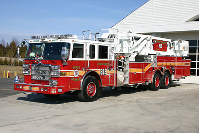 Tower 619 is a 2007 Pierce Dash 95' tower.
