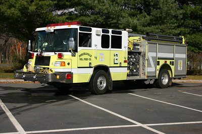 Engine 602 is a 1999 Pierce Quantum  1250/750.  Engine 602 was photographed at Loudoun Valley High School.  A group of fire apparatus photographers from across the state of Virginia (with representatives from several fire department magazines, on-line web sites, etc.) have visited Loudoun County stations on several different occasions.   Departments such as Purcellville welcomed the visitors and made arrangements to have the apparatus photographed.