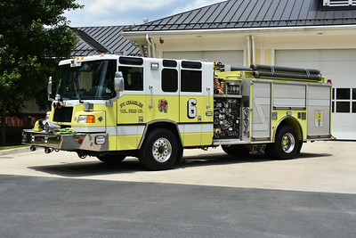 St. Charles, Virginia in Lee County.  This 1999 Pierce Quantum was photographed in July of 2018 in Purcellville, Virginia, many miles away from St. Charles (just over 400 miles).  Purcellville donated the Pierce to St. Charles.  Not only did they donate the truck, they had it lettered and numbered for St. Charles and arranged with other Loudoun County departments to donate hose and equipment.    1250/750 with Pierce job number EC 241.