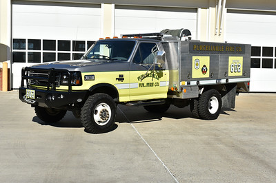 Purcellville Brush 602 received some new paint and graphics in 2017.  It is a 1992 Ford Super Duty/EBY/Singer/2017 FastLane equipped with a 500/300.  The silver color was added to match Tower 602.