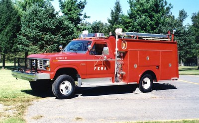 Former Attack 21 from Mt. Weather, a 1985 Ford F-350 4x4/LTI, 300/200/20.
