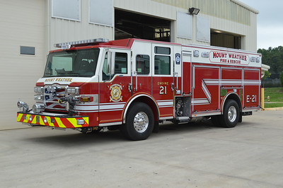 Mount Weathers newest is Engine 21.  A 2014 Pierce Velocity PUC, this photo was taken at the local dealership in Manassas, VA.