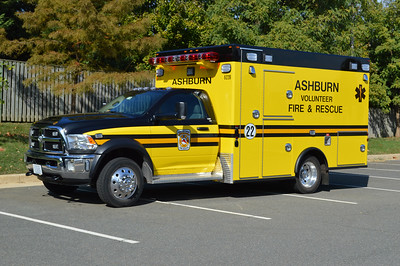 "The first of five Dodge 4500 4x4/Osage ""Super Warrior"" ambulances was received for ""622B"".  It is a 2015 Dodge with a 2016 Osage ambulance body and was the first AVFRD ambulance to sport the new black over yellow colors."