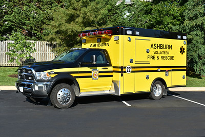 "Ashburn, Virginia's ""622"", a 2015 Dodge Ram 4500 4x4/2017 Osage 2156 Super Warrior ambulance.  This is one of five similar ambulances running from Ashburn's two stations."