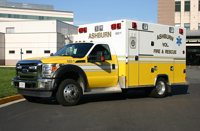 Ashburn took delivery of two 2010 Ford F450's built by Excellance and assigned one to Station 6 and the other to Station 22.  Former 622-1 was photographed in October of 2011 at the Emergency Room at Lansdowne Hospital after finishing a call.