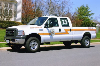 Former Utility 623 from Ashburn, a 2004 Ford F-350.  Sold in 2009 to the Remington VFD (Fauquier County, Virginia).