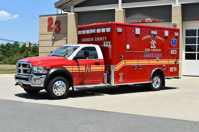 Loudoun County, Virginia took delivery of three 2018 Dodge 4500 4x4/Horton 603F and assigned them to Medic 623, 623B, and an eventual assignment to Station 27.  Medic 623 has Horton serial number 18488.