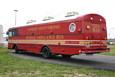 Another view of the MAB as photographed at the Loudoun County Training Center.  The MAB can transport up to 20 stretchered patients.