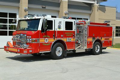 Engine 623 as photographed in August of 2014.  Dressed up with new wheel covers, headlights, etc.  Sold in 2018.