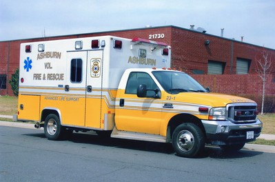 Former Ambulance 23-1, a 2002 Ford F-350 4x4/Excellance.  Later became Ambulance 622-1.