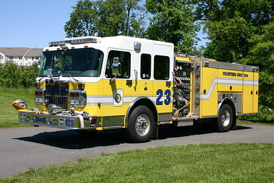 The original Engine 23 was this 2003 Spartan Gladiator/Ferrara  1500/500/20.  It is now assigned to Engine 622.