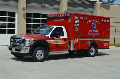 Ambulance 623B is also a 2013 Ford F450 4x4/Horton.  Moved to reserve status.
