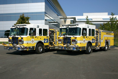 Old Engine 23 and Reserve Engine 23 were photographed together back in 2005 when the department photographed all of the Ferrara fire trucks (4 engines and a tower) for a Ferrara calendar shoot.