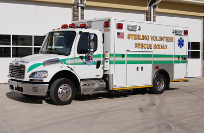 Shortly after visiting the new Kincora Safety Center operated by Sterling Fire and Rescue, Medic 625-B was playing back up reserve at the new Station 35.  It is a 2009 Freightliner M2 built by Horton.