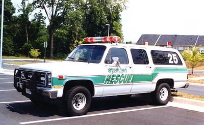 Former Utility 25, a Chevy Suburban.