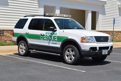A Sterling Rescue utility (Ford Explorer) kept at Station 25 and photographed May of 2014.