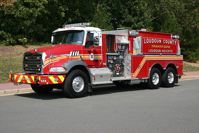 The first official truck for the Loudoun Heights Station is Tanker 626, a 2012 Mack Granite/2013 Pierce  1500/3000.  Loudoun County ordered two of these tankers, with the other going to Station 12 in Lovettsville.  This photograph was taken shortly after delivery at the Ashburn county shops prior to the tanker entering service.  Delivered in September of 2013, it will go into service when the new Station 26 opens in 2014.