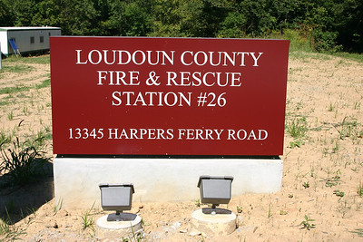Station sign for the new Fire Station 26 in Loudoun Heights.  Photographed in September of 2013.