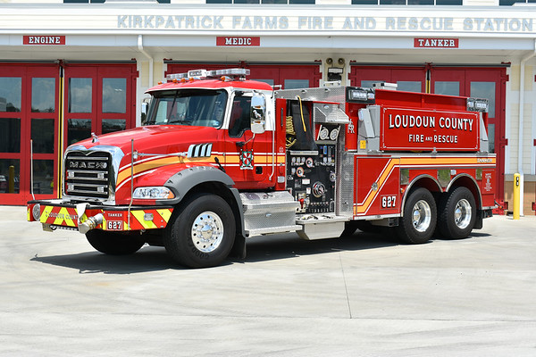 Loudoun County Tanker 627 (Kirkpatrick Farms) - 2017 Mack Granite/Pierce with a 1500/3000 and assigned Pierce job number 30965.