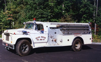 Former Tanker 8, a 1965 Ford 850/Howe, 250/1500, sn- 11794.  ex - Middleburg, Virginia (Loudoun County).  Sold to Fentress County, Tennessee.
