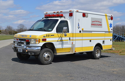 Ambulance 891 is a 1995 Ford E-350/Ashley.  ex - Middleburg, Virginia (Loudoun County) Ambulance 3.