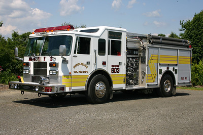 Engine 603 from Middleburg had some rehab work completed on it in 2009.  It is a 1998 Pierce Saber with several local companies completing the rehab (body, paint, etc.).  1250/1000.  Sold in May of 2015 when the volunteer program in Middleburg dissolved.