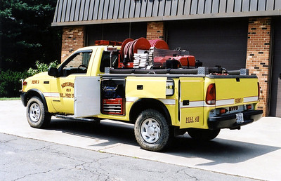 Body side compartments on a Ford F brush truck was an unusual set up.