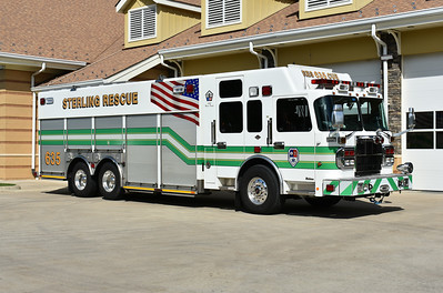 Sterling, Virginia Rescue 635, a 2010 Spartan Gladiator/SVI.  It carries SVI serial number 716.  This squad originally ran as Rescue 615 and was transferred to Rescue 635 on 12/29/2018.