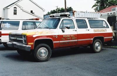 Former Utility 4, a 1990's Chevy Silverado 20.