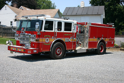 Round Hill's Engine 604 was this 2007 Pierce Dash 1500/750/50 and was one of three placed into service throughout Loudoun County.  It went to Reserve in 2015.