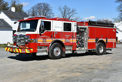 Loudoun County, Virginia Engine 604 from Round Hill - a 2017 Pierce Velocity with a 1500/750/50 and job number 30930-01.  One of three ordered by Loudoun County (others assigned to Engine 605 and Engine 627).