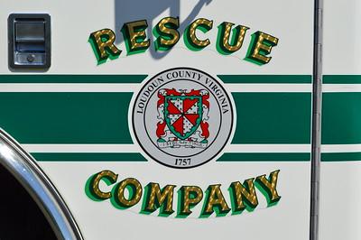 Hamilton, VA Rescue 617 door emblem on their 2010 Pierce Arrow XT.
