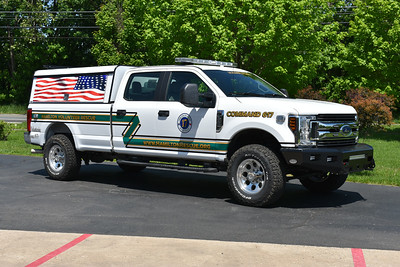 Command 617 from Hamilton Volunteer Rescue Squad in Loudoun County is a 2018 Ford F250 4x4/2019 Fastlane Emergency Vehicles.