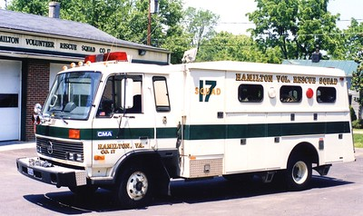 Former Squad 17, a unique 1986 Nissan/?? Reading/1987 Keplinger, sn- 126.  The Reading body is former Winchester, Virginia.  Sold to LSI (fire apparatus repair company) in 1998.