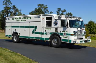Hamilton, VA - Loudoun County Rescue 617 - 2010 Pierce Arrow XT with job number 22949.  Newer steel wheel covers added.