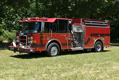 Engine 6 from Reva, Virginia (Culpeper County) is a 2006 Pierce Dash with a 1500/1000/40.  Job number 17317.  Originally delivered to Hamilton, Virginia in Loudoun County.  In November of 2017, Hamilton donated the Pierce to Richardsville.