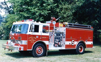 Former Engine 5, a 1984 Pierce Dash, 1000/1500, sn- 2198.