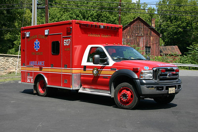 Former Medic 607 in Aldie is this 2006 Ford F450 4x4/Medtec.  A similar ambulance runs at Neersville Station 16.