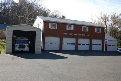 Aldie Fire Station 7, with the addition of the garage in 2010 to house Rescue 607.