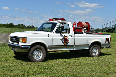 "From Summit Point is ""6"", a 1988 Ford F/2016 FD with a 1980 skid unit (250/218).  It was received in 2016 and the Ford came from the Motorsports Park.  The skid unit came from Aldie, Virginia in Loudoun County."